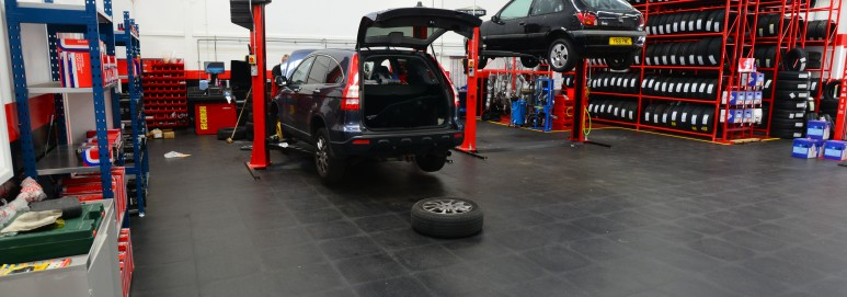 Ecotile workshop flooring for national tyres