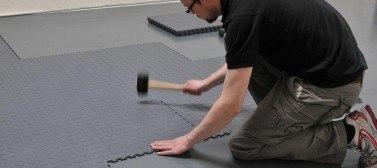 Workshop floor tiles