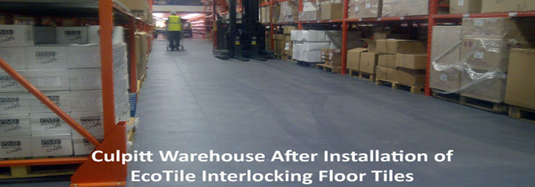 EcoTile interlocking floor tiles