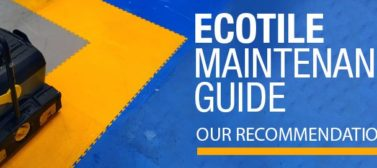 Pflege von Ecotile Böden